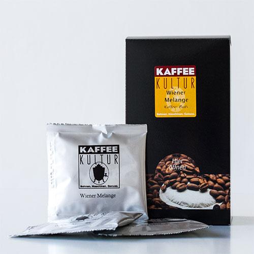 kaffee pads wiener melange kaffeekultur online shop. Black Bedroom Furniture Sets. Home Design Ideas