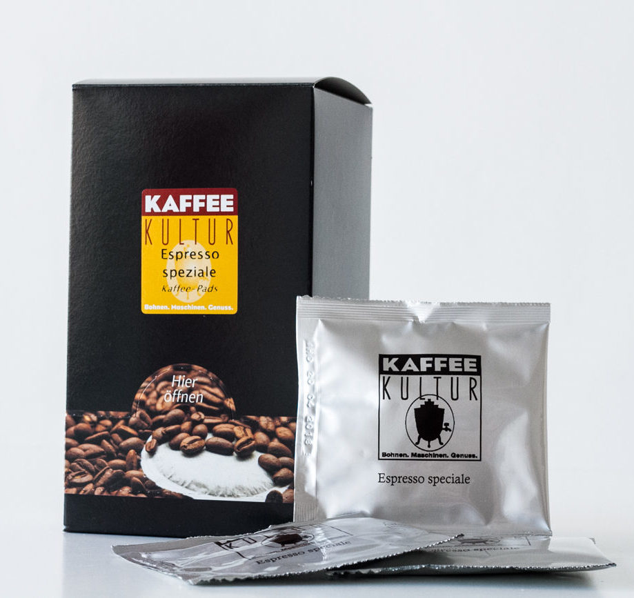 kaffee pads espresso speziale kaffeekultur online shop. Black Bedroom Furniture Sets. Home Design Ideas
